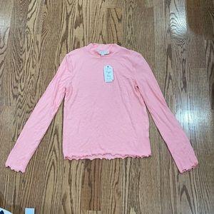 Long sleeve shirt hippie roses size L junior